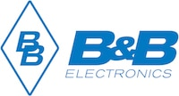 B&B Electronics logo - Blue